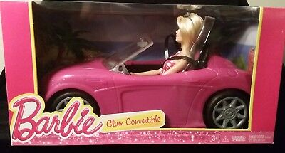 Barbie Glam Convertible Doll Vehicle Pink Car Hot Seats Girl Toy ~ Mattel