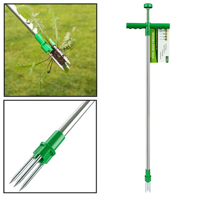 AMOS Weed Puller Weeder Twister Push Twist & Pull Claw Garden Lawn Easy Root Rem