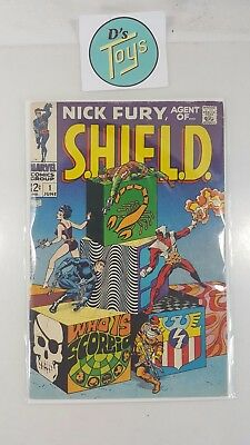 ~ Comic Book Marvel Nick Fury Agent of SHIELD #1 Jun 68 June 1968 L@@K!