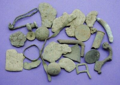 Varied lot of metal detector finds British found