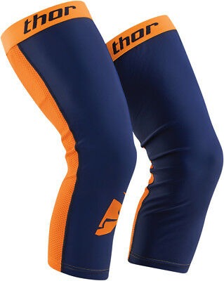 Thor COMP MX Motocross Downhill Kniesocken/SLEEVE Unterzieher in NAVY/ktm-ORANGE