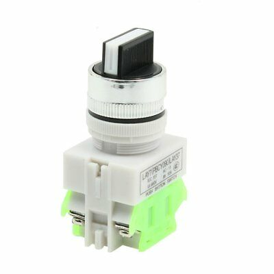 AC660V 10A DPST NO/NC 3 Position Rotary Selector Latching Push Button Switch