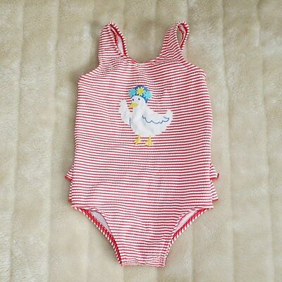 Baby Boden Red White and Duck Swimsuit