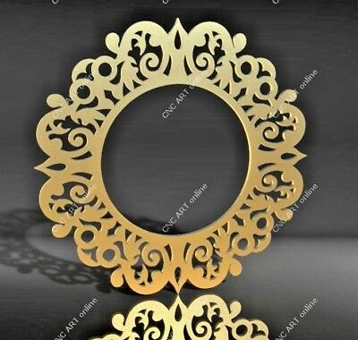 Nice mirror frame DXF, DWG and EPS File For CNC Plasma, Router, laser, water jet
