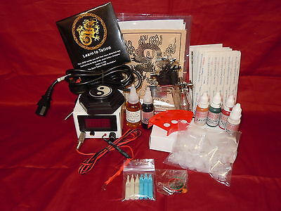 SS10 BASIC COMPLETE TATTOO KIT With 1 ROTARY MACHINE UK INK AND NEEDLES UK STOCK