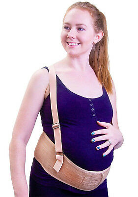 Maternity Belt, Belly Band for Pregnancy, Lower Back Support, One Size, Beige