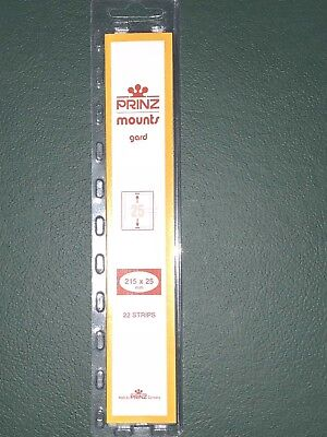 Prinz 25/215 Stamp Mounts 22 Strips ***We Help And Support Our Veterans***