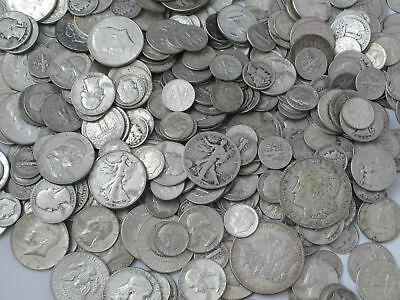 $1.00 Face Value 90% Silver Mixed Junk Coins 1 Half Dollar Included