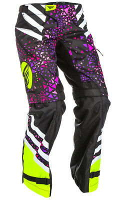 Fly Racing Womens Kinetic Overboot Moto Pant Neon Pink Hi-Vis Size 0/2 371-65904