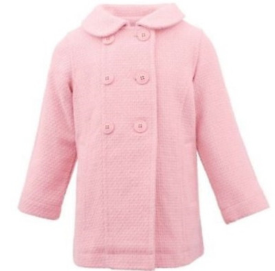 0b4f52bd3b5 MADDEN GIRL LINED pea coat BLUSH PINK wool NWT girls 6 - $36.99 ...