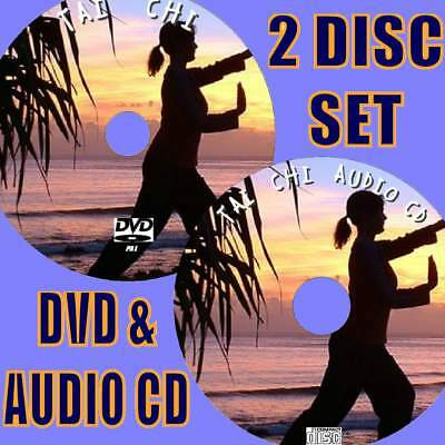 Tai Chi For Beginners Easy To Follow Peaceful Exercise Video Dvd & Audio Cdnew