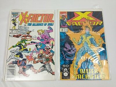 Lot of 2 Marvel Comics X-Factor VS. The Alliance Of Evil #5 and X-Factor #68