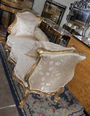 French Louis XV Sofa Day Bed Chaise Lounge Longue Chair