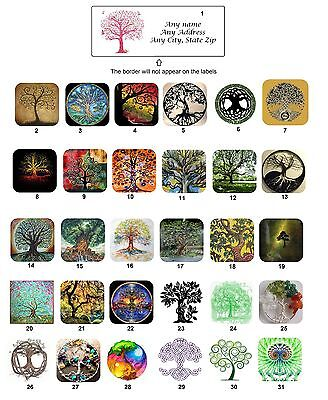 30 Personalized Return Address Labels Tree of Life Buy 3 Get 1 FREE