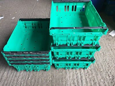 *SPECIAL OFFER* 20 x Bail Arm Crates A4 office Storage Stacking Boxes Bargain