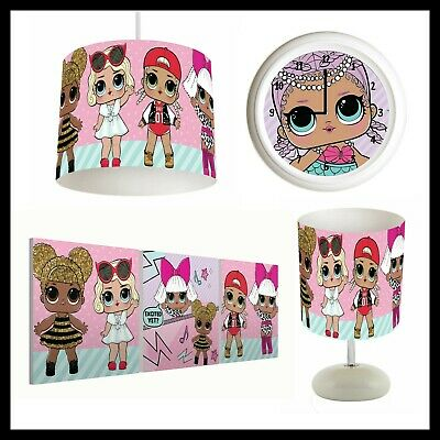 LOL SURPRISE DOLLS (168) - Girls Bedroom - Lampshade, Lamp, Clock, Canvas Prints