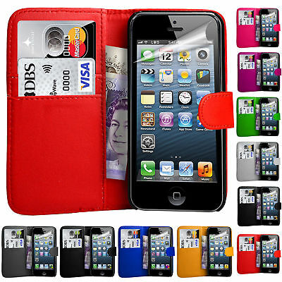 For Apple iPhone 5 5S 6 7 8 Plus Flip Wallet Leather Case Cover Magntic Luxury