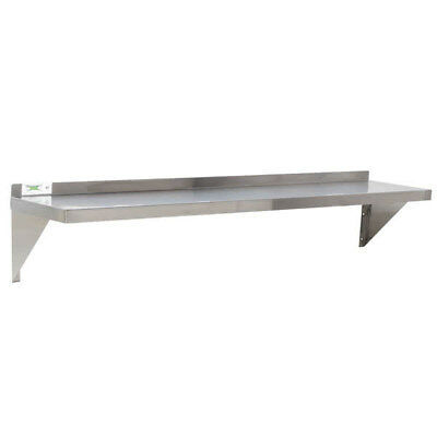 """12"""" x 60"""" NSF Wholesale Stainless Steel Restaurant Kitchen Solid Wall Shelf"""