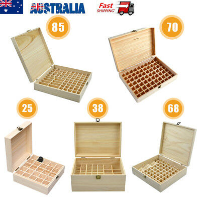 25-85 Slots Oil Aroma Storage Wooden Case Box Essential Organizer Container Bag