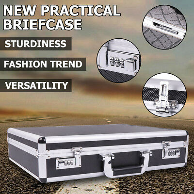 Portable Aluminium Brief Case/Box Sturdy Toolbox Collect Equipment Large Size