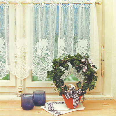 Window Lace Curtain Voile Net Curtains Tier Curtain Half Valance Blind #5