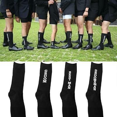 BLACK WEDDING PARTY SOCKS Groomsman Creative Cotton Socks Best Man Socks