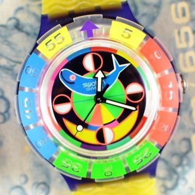 Swatch Swiss Diver Bright Retro Hipster Watch New Old Stock in Box