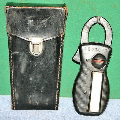 Vintage AMPROBE Clamp On Ammeter in Leather Case