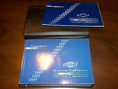 1997 chevrolet cavalier owners manual