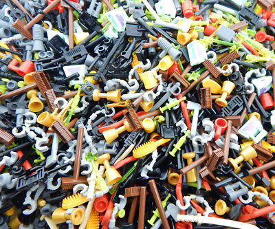 100 NEW LEGO MINIFIG ACCESSORIES minifugre parts town city figure weapons bulk