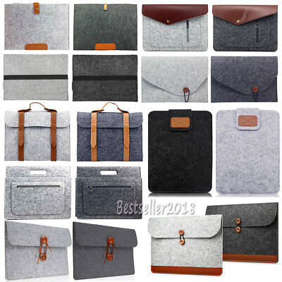 "For MacBook Air Pro 11"" 13"" 15"" Woolen Envelope Laptop Bag Cover Sleeve Case New"