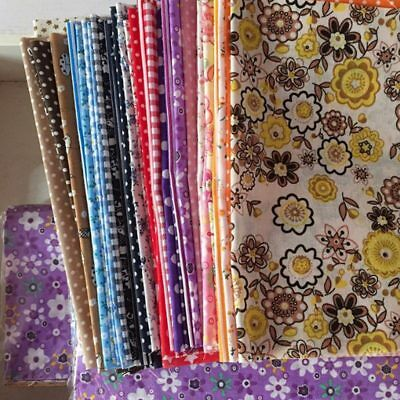 50Pcs 10*10CM Floral Flower Cotton Patchwork Craft Fabric Bundle Sewing Sheet