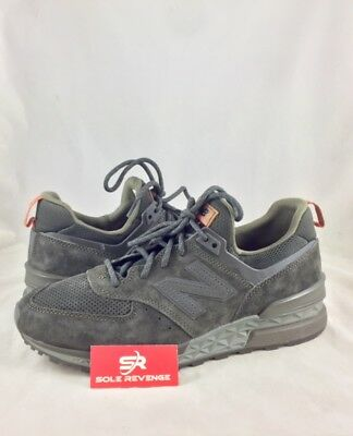 sale retailer 266a7 bbedb NEW! NEW BALANCE 574 Sport Mens Synthentic Casual Shoes sneaker olive green  c1