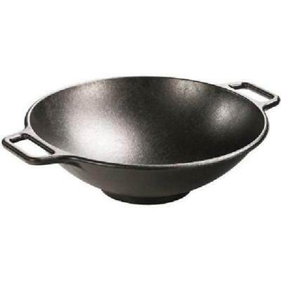 Cast Iron Wok 14 Inch Original Nonstick Surface Sturdy Base Home Kitchen  Cooking