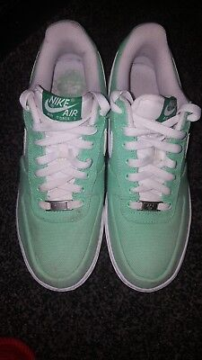on sale b3a5f a8c8d Nike Air Force 1 Low Canvas Green Tourmaline Womens Wmns Sz 10 318636-311