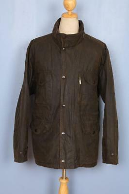 Mens BARBOUR Sapper WAXED Jacket Olive Size XXL