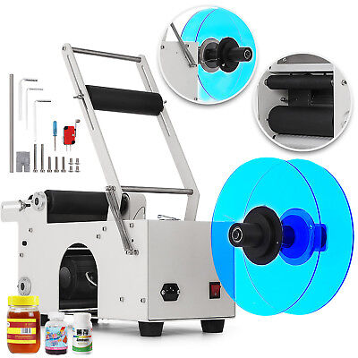 MT-50 Semi-Automatic Round Bottle Labeling Machine Labeler Electric Date Printer