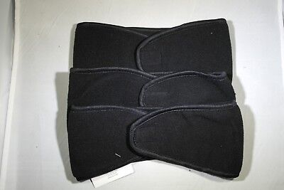3 PCS Black 100% Polyester Unisex Headband Ear muff Warmer with Velcro