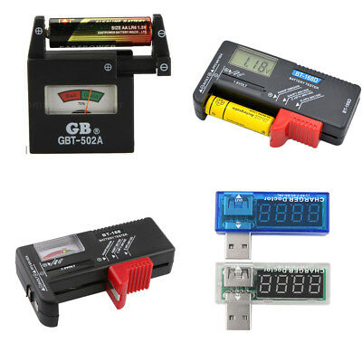AA AAA C D 9V 1.5V Universal Button Cell Battery Volt Tester Checker ASS
