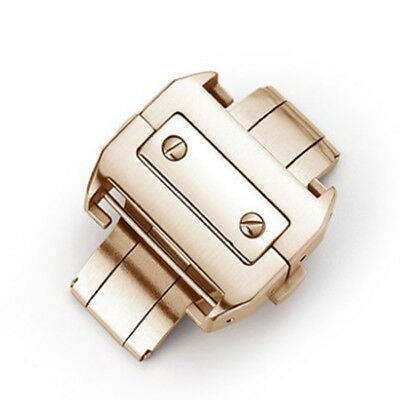 18mm/21mm 316L Steel Deployment Buckle Metal Clasp For Cartier Santos 100 Watchs
