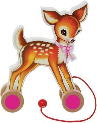 NEW Kitsch Kitchen Pull Along Wooden Deer Toy - Baby Toy