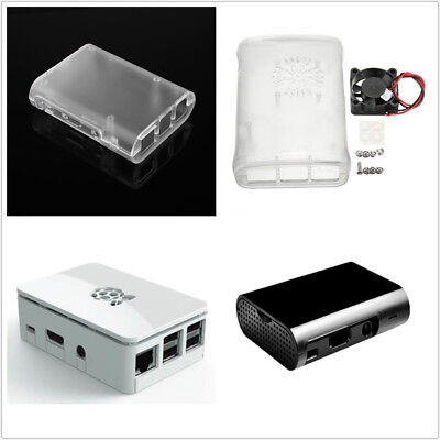 ABS Cover Box Case Raspberry Pi 3, 2 Transparent&Cooling Fan/White/Black ASS