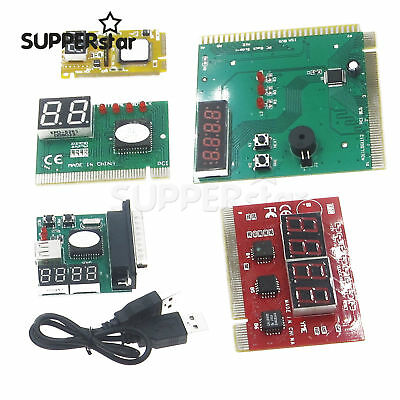 2/4 Digit 3 in1 PCI-E PC Analysis Diagnostic USB Card POST Card TOP ASS