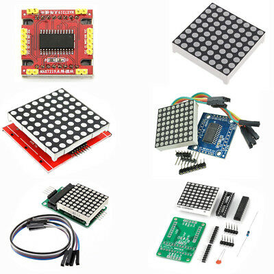 MAX7219 Dot Matrix DIY Kit/Full Color RGB LED/8x8 3mm/5mm  Display Red ASS