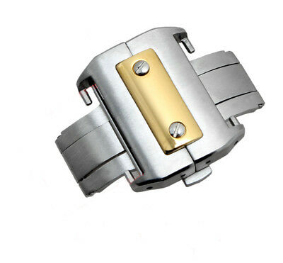18mm/21mm 316L Steel Gold/Silver Deployment Metal Buckle For Cartier Santos 100