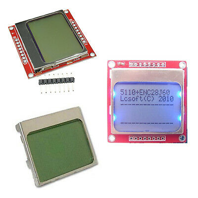 DIY White/Blue 84 * 48 Nokia 5110 LCD Display Screen Module Module ASS