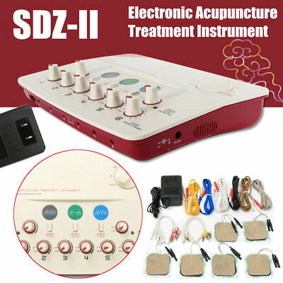 Neu Electro Agopuntura Acupuncture Stimulator 6 Channels Output Patches Massager