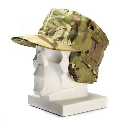 Genuine British UK army ear flaps cap MTP camo