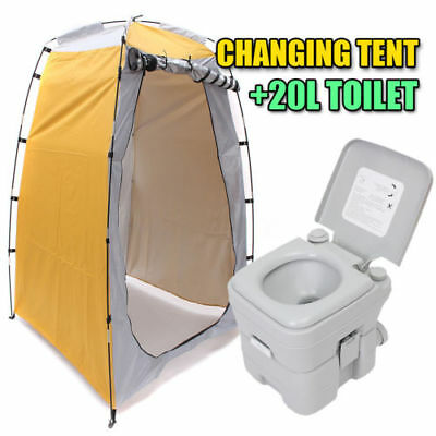 Pop Up Tent Camping Beach Toilet Shower Changing Room Outdoor Bag + 20L Toilet
