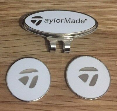 Taylor Made Hat/Cap clip with two Magnetic golf ball markers                s77
